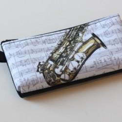 Stift-Etui Saxophon 20x10 cm