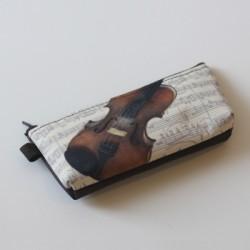Stift-Etui Violine 20x10 cm