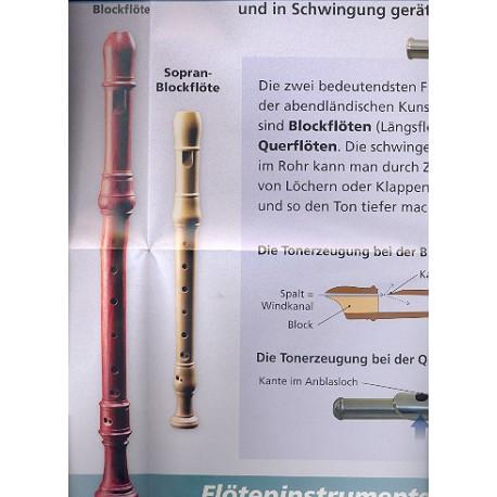 Die Flöte : Instrumenten - Poster