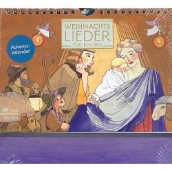 Kalender Weihnachtslieder für Kinder Adventskalender zum Aufstellen 21x14,8cm