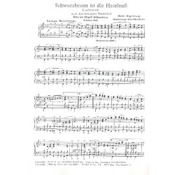 Gabriel, Wiga: Schwarzbraun ist die Haselnuss und Ein Heller und ein Batzen für Klavier (Orgel/Akkordeon) mit Text