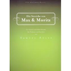 Adler, Samuel: Die Streiche von Max und Moritz für Erzähler und Orchester Partitur