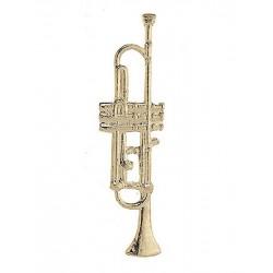 Anstecknadel Trompete goldfarben