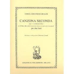 Frescobaldi, Girolamo Alessandro: Canzona Seconda detta La Bernardinia : per 2 liuti partitura e parti