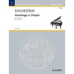 Shchedrin, Rodion Konstantinov: Hommage a Chopin : pour 4 pianos partition