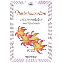 Hanke, Stefan: Herbstouvertüre für Flöte, Sopranino, 2 Blockflöten (A/T), Fagott (Vc), Solovioline, 2 Violinen und Viola,