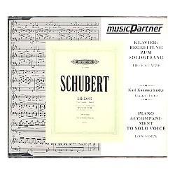 Schubert, Franz: Winterreise op.89 D911 tief : CD Klavierbegleitung zur tiefen Solostimme