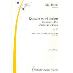 Bonis, Mel (Domange, M├®lanie): Quartett D-Dur op.124 : f├╝r Klavier, Violine, Viola und Violoncello