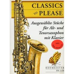 Classics to please (+CD) : für 2 Saxophone (AT) und Klavier
