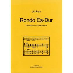 Rom, Uri: Rondo Es-Dur für Horn und Orchester Partitur