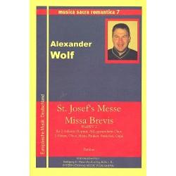 Wolf, Alexander: St. Josef's Messe Missa Brevis WolfWV2 : für 2 Soprano, Alt, gem Chor, 2 Flöten, Oboe, Horn, Congas, Pauken,