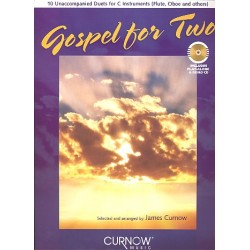 Gospel for two (+CD) : for C instruments (flute, oboe and others) score