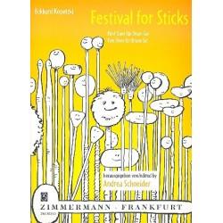 Kopetzki, Eckhard: Festival for Sticks : für 2 Drumsets Partitur und Stimmen
