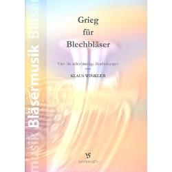 Grieg, Edvard Hagerup: Grieg : für 4-8 Blechbläser (Ensemble) Partitur