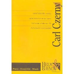 Czerny, Carl: Variations brillantes sur le theme tyrolien de l'op├®ra La Fianc├®e op.228 : f├╝r Klavier zu 6 H├ñnden,