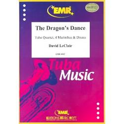 Leclair, David: The Dragon's Dance : f├╝r 4 Marimbaphone, 2 Euphonien, 2 Tubas und Drums Partitur und Stimmen