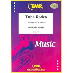Kresin, Willibald: Tuba Rodeo : f├╝r 2 Euphonien, 2 Tubas und Drums Partitur und Stimmen