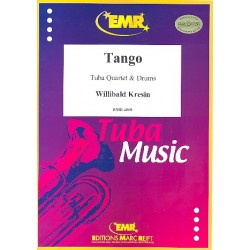 Kresin, Willibald: Tango : f├╝r 2 Euphonien, 2 Tubas und Drums Partitur und Stimmen