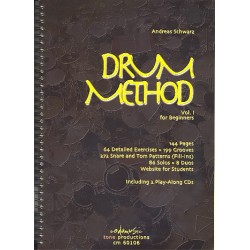 Schwarz, Andreas: Drum Method vol.1 (+ 2 CD's, en)