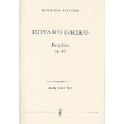 Grieg, Edvard Hagerup: Bergliot op.42 für Sprecher und Orchester Studienpartitur