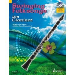 Swinging Folksongs (+CD) : für Klarinette (Klavierbegleitung als PDF zum Ausdrucken)