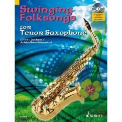 Swinging Folksongs (+CD) : für Tenorsaxophon (Klavierbegleitung als PDF zum Ausdrucken)