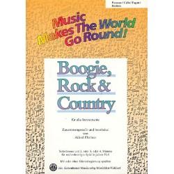 Boogie Rock and Country : für flexibles Ensemble Posaune/Cello/Fagott/Bariton