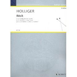 Holliger, Heinz: Récit für 4 Pedalpauken (1 Spieler)