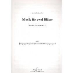 Stekl, Konrad: Musik für 2 Bläser op. 82a : für Klarinette in Es und Horn in F 2 Spielpartituren