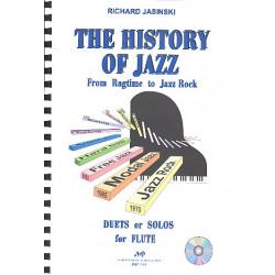Jasinski, Richard: The History of Jazz (+CD) : f├╝r 1-2 Fl├Âten Spielpartitur