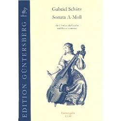 Schütz, Gabriel: Sonate a-Moll : für 2 Violen da Gamba und Bc Partitur und Stimmen