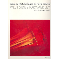 Bernstein, Leonard: West Side Story Medley : for 2 trumpets, horn (F), trombone and tuba, score and parts