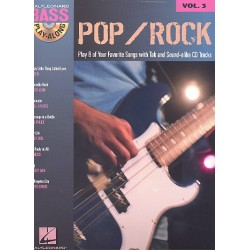 Pop/Rock (+CD) : Bass Playalong vol.3 Songbook vocal/bass/tab