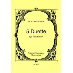 Rossini, Gioacchino: 5 Duette : für 2 Posaunen Spielpartitur