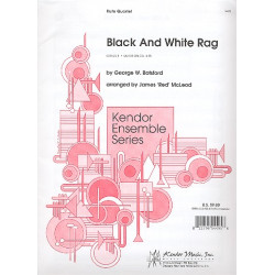 Botsford, George: Black and white Rag : f├╝r 4 Fl├Âten Partitur und Stimmen