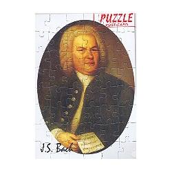 Puzzle Postkarte Portrait J.S. Bach mit Umschlag 48 Teile
