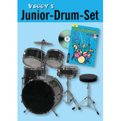 Voggy's Junior Drum-Set Komplett-Set für Kinder ab 6 Jahren