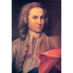 Rentsch, Johann Ernst: Johann Sebastian Bach Postkarte mit Ölgemälde von Johann Ernst Rentsch