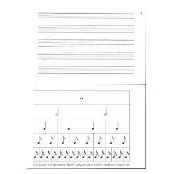Taktvoll : Notenblock 50 Seiten Din A 7