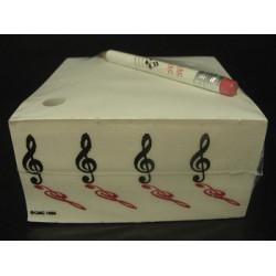 Notizblock mit Bleistift Violinschlüssel klein/gespiegelt