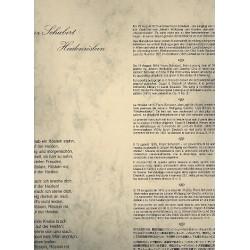 Schubert, Franz: Das Heidenroeslein op3/3 D257 : Poster des Faksimiles