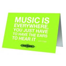 Grußkarte Cage - Music is everywhere mit Umschlag