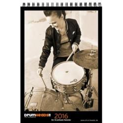 Drumheads Kalender 2016 Monatskalender 31x44cm