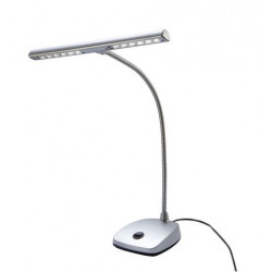 K&M LED Pianoleuchte Silber matt