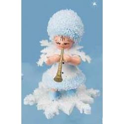 Schneeflöckchen mit Klarinette