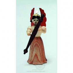 Engel, Langrock, mit Fagott, 7cm, natur