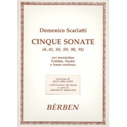 Scarlatti, Domenico: 5 Sonaten : für Mandoline (Violine, Flöte) und Bc Stimmen