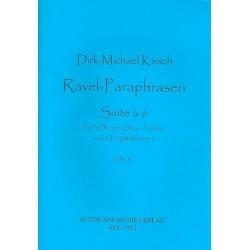 Kirsch, Dirk-Michael: Ravel-Paraphrasen op.8 : f├╝r 3 Oboen, Oboe d'amore und 2 Englischh├Ârner Partitur und Stimmen
