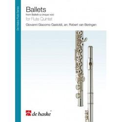 Gastoldi, Giovanni Giacomo: Ballets für Flötenensemble Partitur und Stimmen