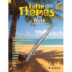 Latin Themes (+CD) : für Flöte (Klavierbegleitung als PDF zum Ausdrucken)